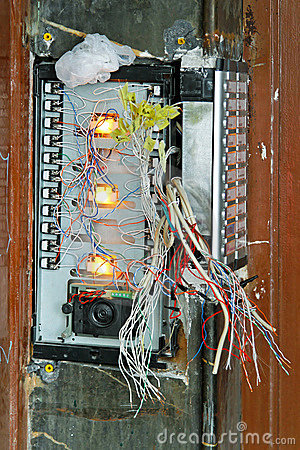 Damaged intercom