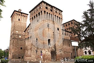 Damaged medieval castle