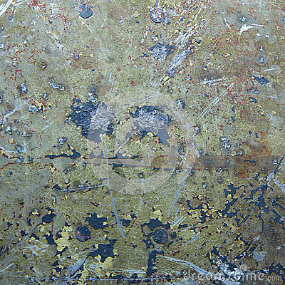 Damaged & rusted metal panels texture from Yak-9
