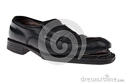 Damaged shoes macro