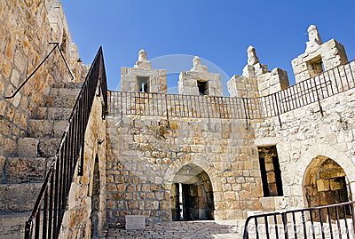 Damascus Gate in Jerusalem. Inside view