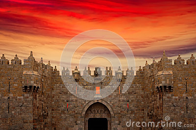 Damascus Gate in Jerusalem Old City