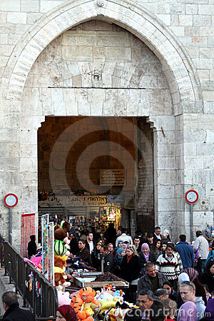 Damascus Gate Market, Jerusealem, Israel, Asia Editorial Stock Photo