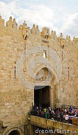 Damascus Gates, Jerusalem Editorial Photo