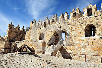 Damascus Nablus Gate in Jerusalem