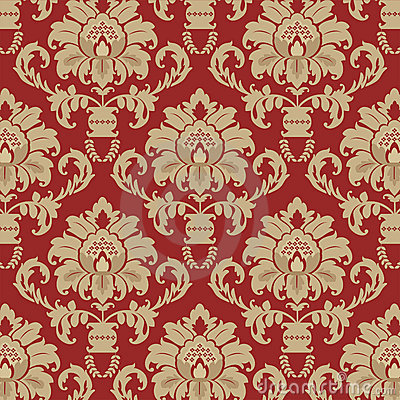 Damask background pattern