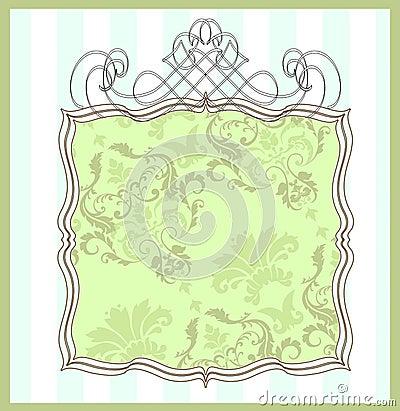 Damask frame