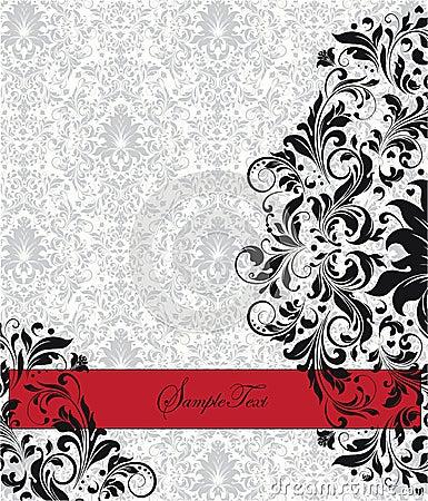 Free Damask Invitation Card Royalty Free Stock Photo - 23524075