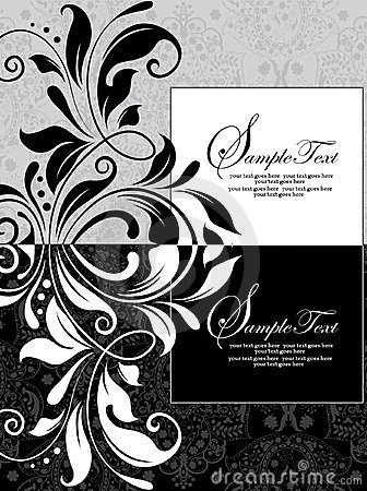 Free Damask Invitation Card Royalty Free Stock Photos - 23569258