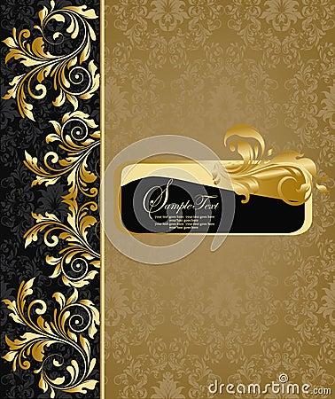 Free Damask Invitation Card Royalty Free Stock Photo - 23569595