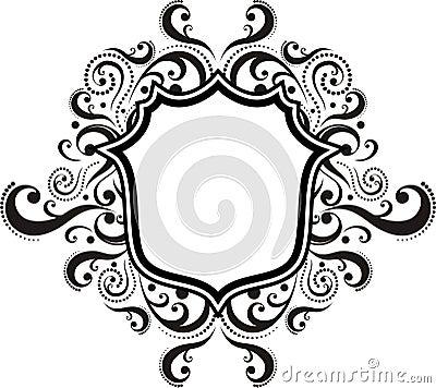 Damask ornamental emblem