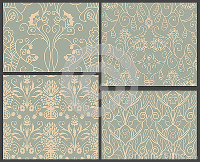 4 damask patterns