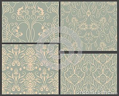 4 damask patterns