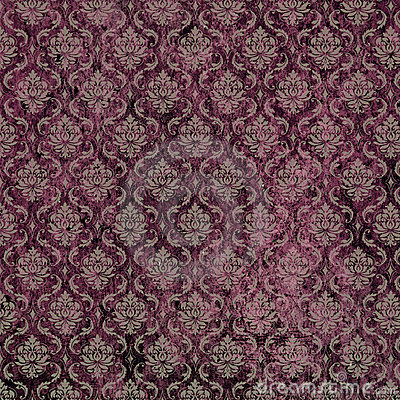 Damask Print Purple