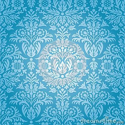 Free Damask Seamless Floral Pattern Stock Image - 39098741