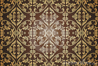 Damask seamless pattern in vector