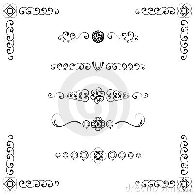 Damask Style Text Dividers