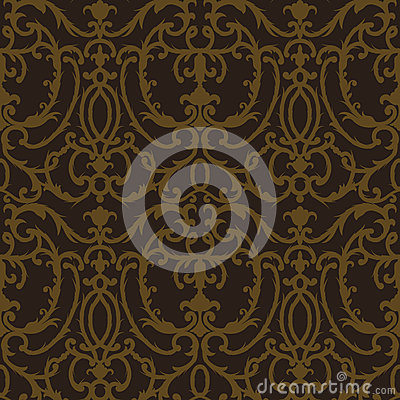 Free Damask Thistle Floral Seamless Pattern Stock Images - 41229674