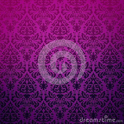 Damask vintage floral background pattern.