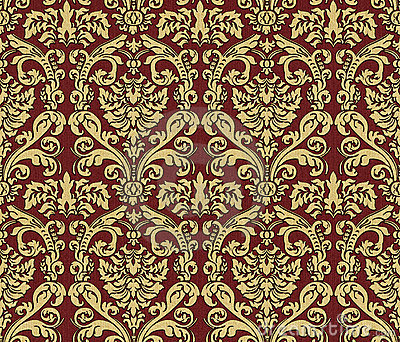Damask Wallpaper Stock Image - Image: 14198761