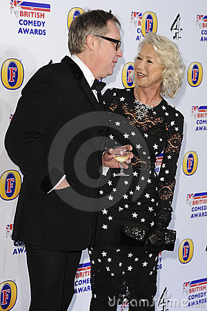 Dame Helen Mirren, Vic Reeves Editorial Image