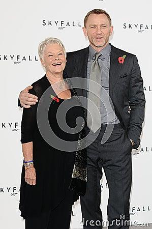 Dame Judi Dench, Daniel Craig, Judi Dench, (Dame) Judi Dench, James Bond Editorial Image