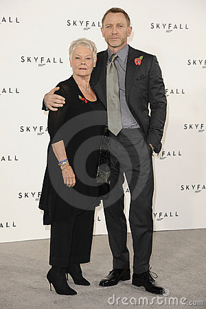 Dame Judi Dench, Daniel Craig, Judi Dench, (Dame) Judi Dench, James Bond Editorial Stock Image