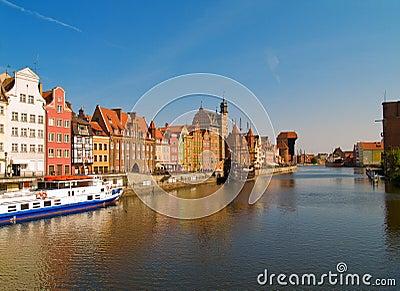 Damm von Motlawa Fluss, Gdansk