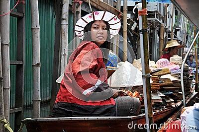 Damnern Saduak Floating Market, Thailand Editorial Image