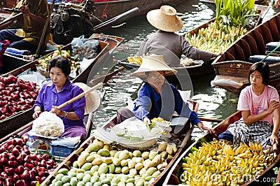 Damnoen Saduak Floating Market, Thailand Editorial Stock Image