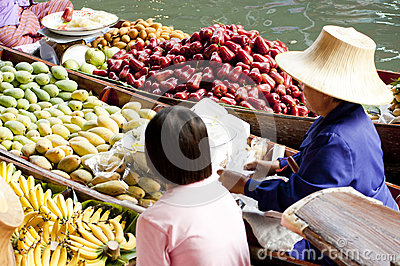 Damnoen Saduak Floating Market, Thailand Editorial Image