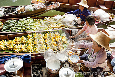Damnoen Saduak Floating Market, Thailand Editorial Photography