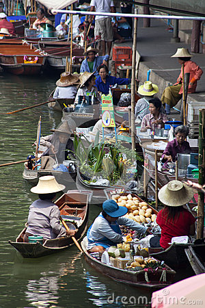 Damnoen Saduak Floating Market - Thailand Editorial Photo