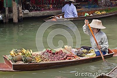 Damnoen Saduak Floating Market - Thailand Editorial Stock Image
