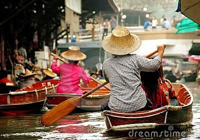 Damnoen Saduak, Thailand: Floating Market Editorial Photo