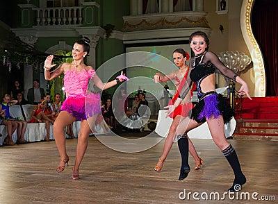 A dança artística concede 2012-2013 Foto Editorial