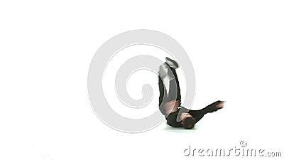 Dançarino Isolated da ruptura video estoque
