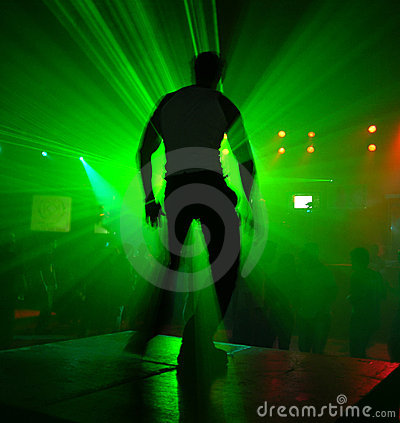 Dançarino na ação