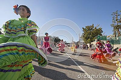 Dançarinos mexicanos tradicionais Foto Editorial