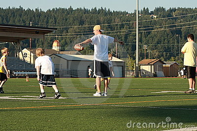 Dan Looker involved in Youth Football camp Editorial Photo