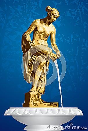 Danaid, ancient sculpture, fountain