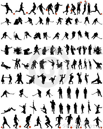 Free Dance And Sport Silhouettes Set Stock Image - 11190971
