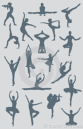 Dance Ballet Yoga Figures