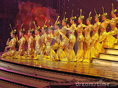 Dance by Chinese deaf actors  Editorial Stock Image
