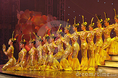 Dance by Chinese deaf actors Editorial Stock Photo