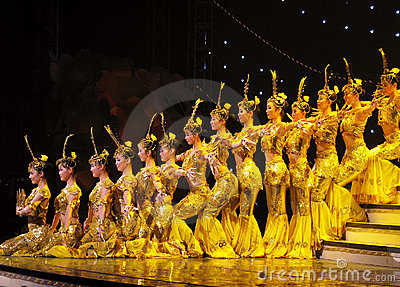 Dance By Chinese Deaf Actors Stock Photo - Image: 4972710