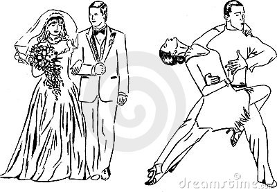 Dance expression and wedding