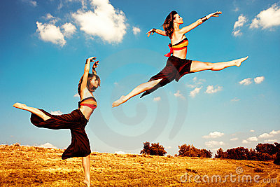 Dance in field