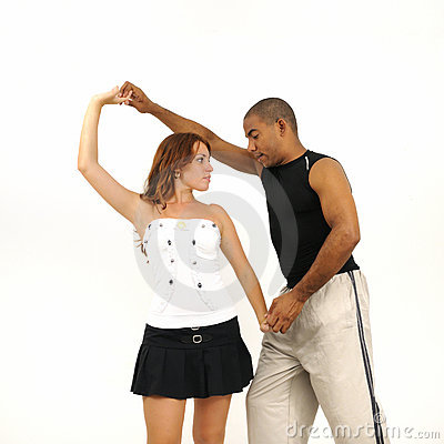 Dance instructor giving lesson