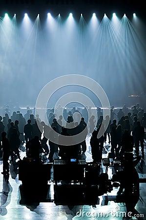 Dance music concert